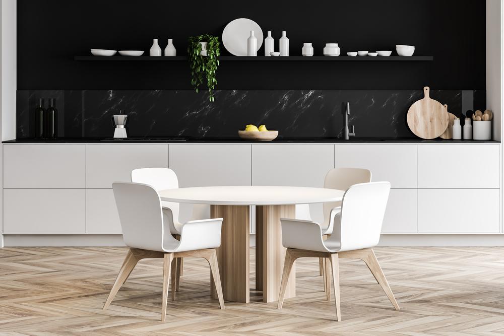 ronde tafel in de keuken